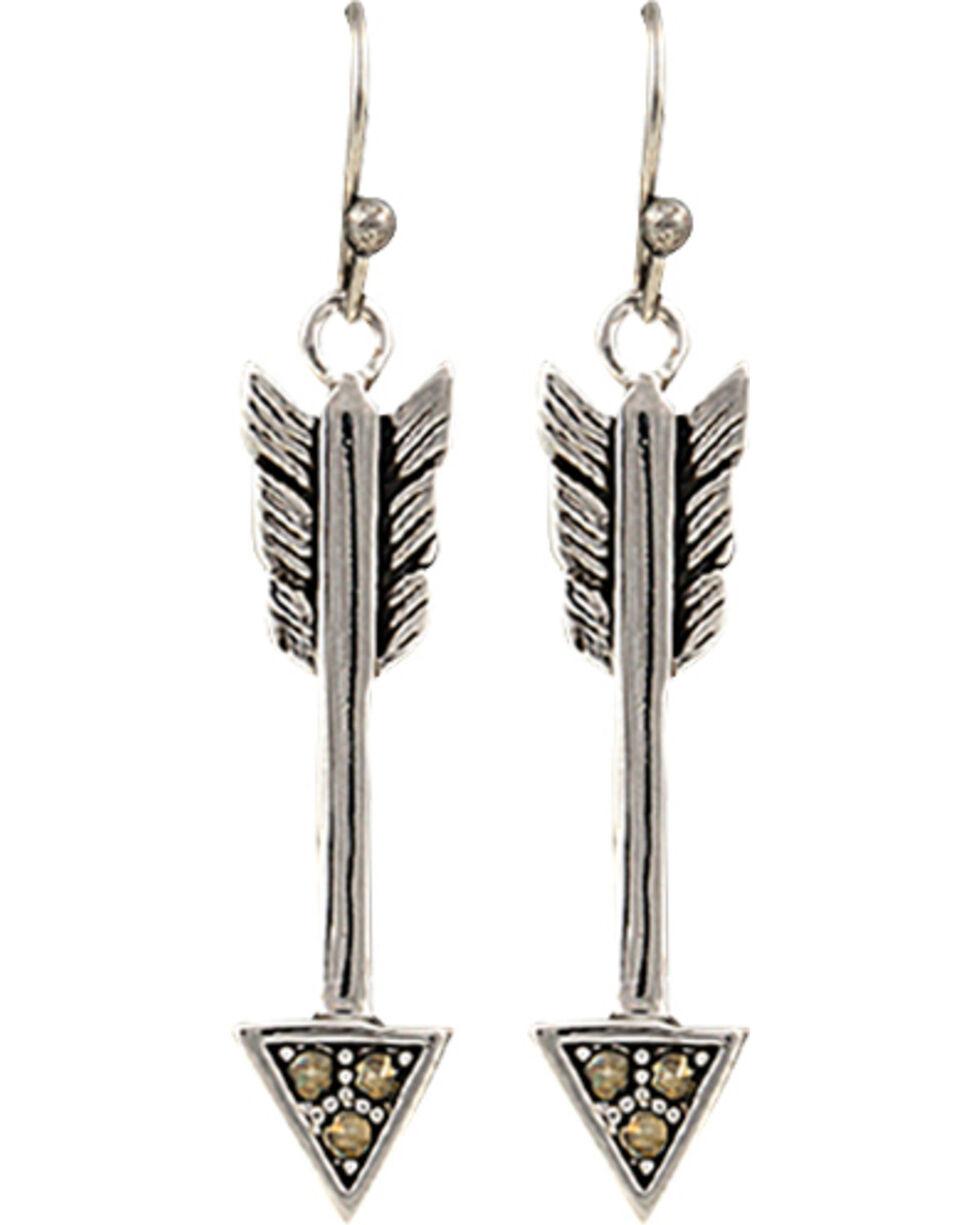 Montana Silversmiths Sparks Will Fly True Arrow Earrings, Silver, hi-res