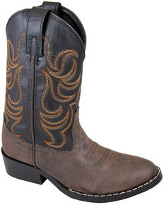 Smoky Mountain Toddler Boys' Monterey Western Boots - Round Toe, Brown, hi-res