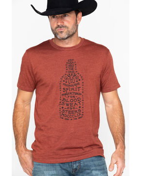 Moonshine Spirit Men's Pour It Slow Print T-Shirt , Chilli, hi-res