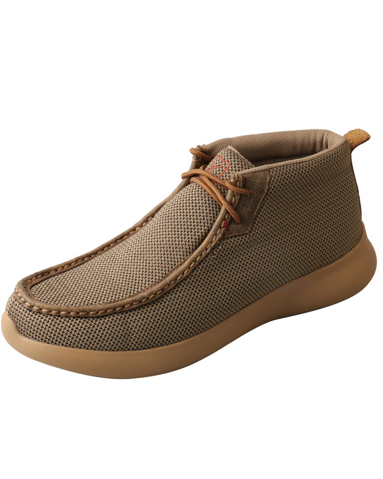 Twisted X Men's EVA12R Chukka Shoes - Moc Toe, Olive, hi-res
