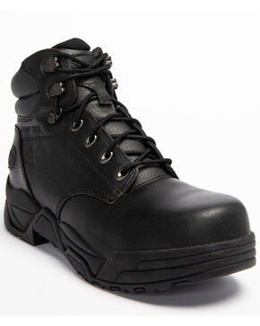 Hawx Men's Black Enforcer Lace-Up Work Boots - Composite Toe, Black, hi-res