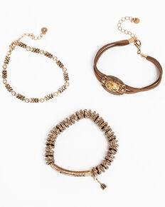 Shyanne Women's Bella Gold Arrow 3 Pack Bracelet Set, Gold, hi-res