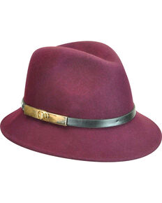 Betmar Women's Plum Darcy Fedora , Purple, hi-res