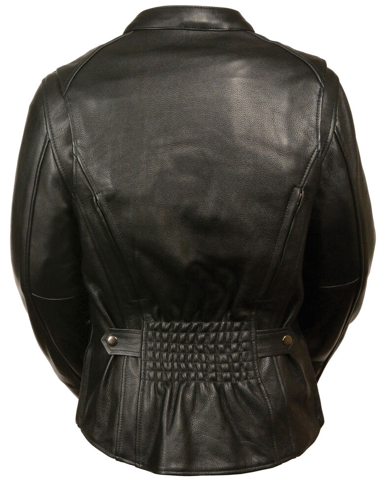 Milwaukee Leather Women's Back Stretch Vented Leather Jacket - 4X, Black, hi-res