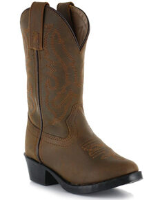 Cody James® Children's Round Toe Western Boots, Brown, hi-res