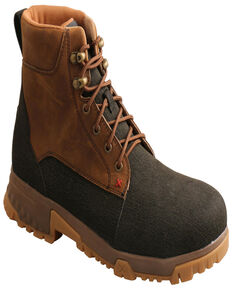 """Twisted X Men's 6"""" Alloy Toe CellStretch Work Boots, Brown, hi-res"""
