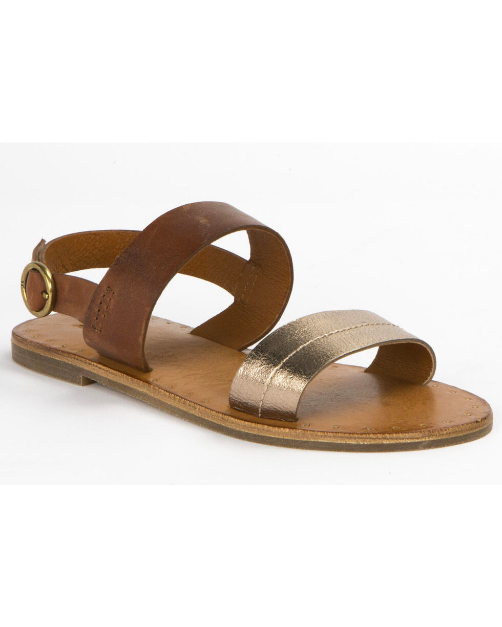 Frye Women's Bronze Ally 2 Band Sling Sandals , Bronze, hi-res