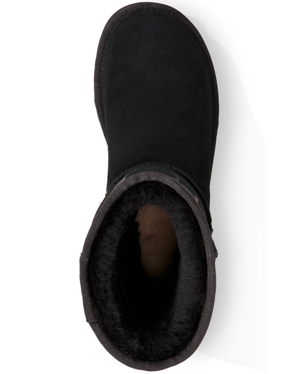 UGG Women's Black Classic Short Rubber Boots , Black, hi-res