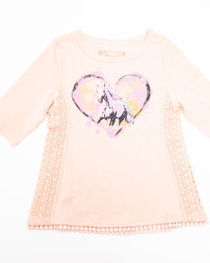 Shyanne Toddler Girls' Dream Horse Knit Top, Blush, hi-res