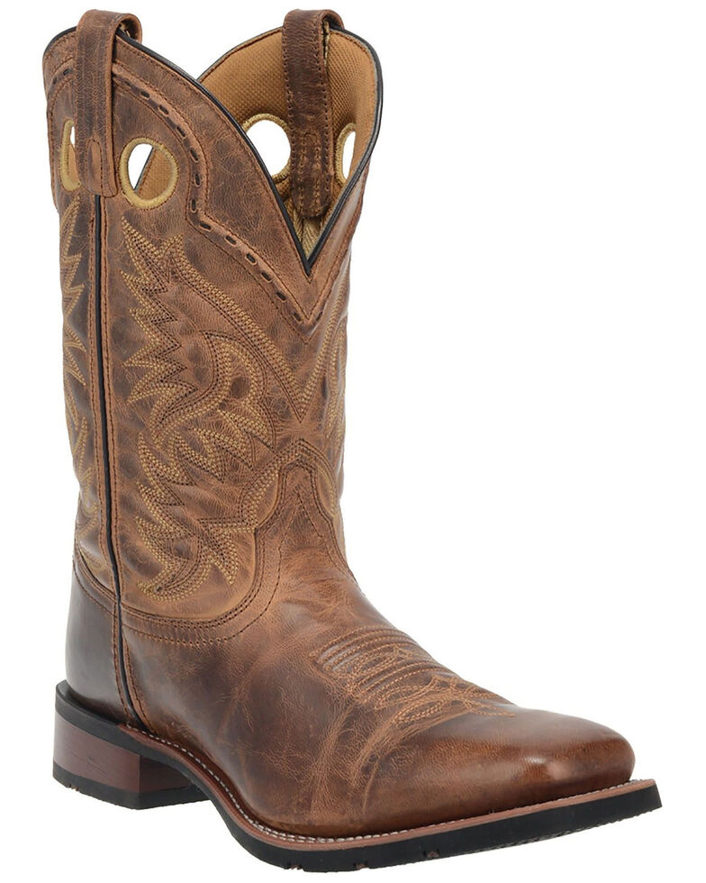 Laredo Men's Kane Western Boots - Wide Square Toe, Tan, hi-res