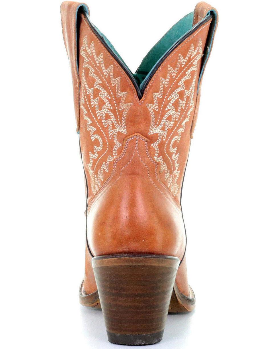 Corral Women's Cognac Embroidered Boots - Snip Toe, Cognac, hi-res