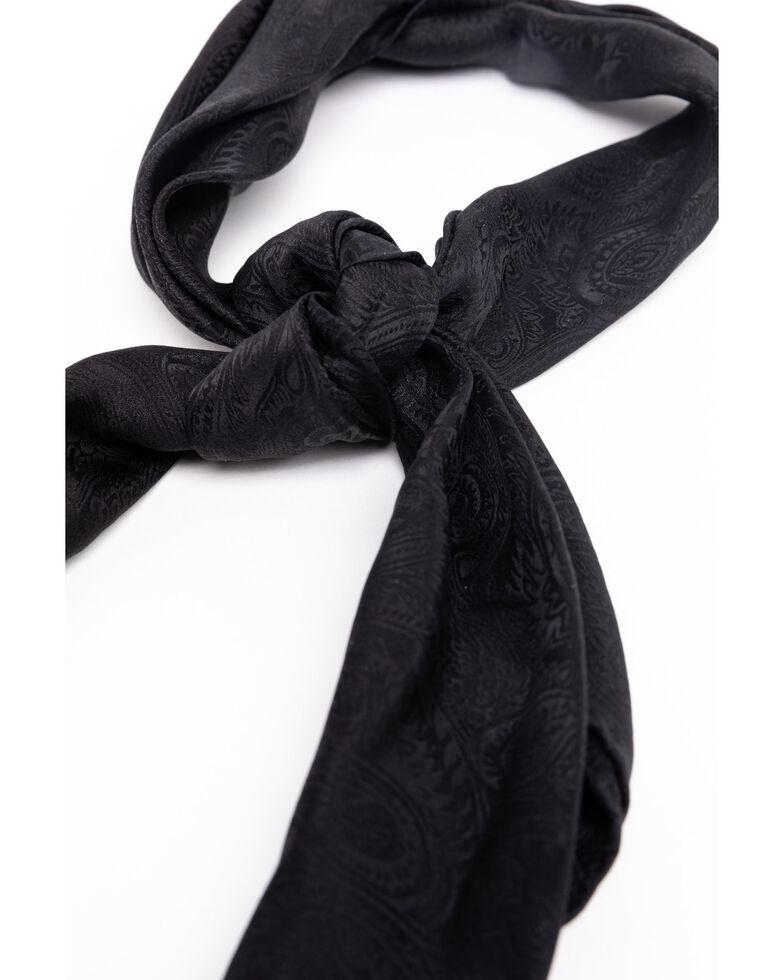 Cody James Men's Black Silk Jacquard Scarf , Black, hi-res