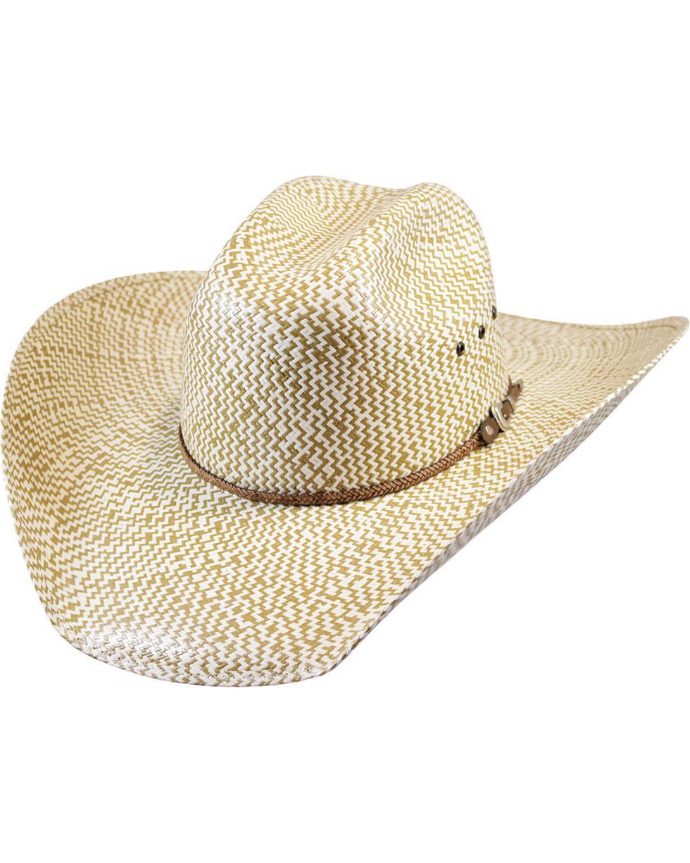 Justin Men's Tan Bent Rail Brawley Straw Hat , Tan, hi-res