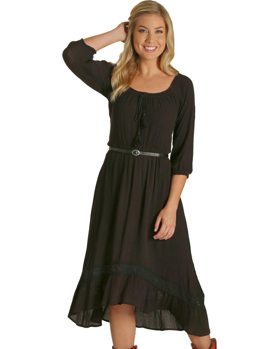 Wrangler Women's Black High-Low Hem Dress , Black, hi-res