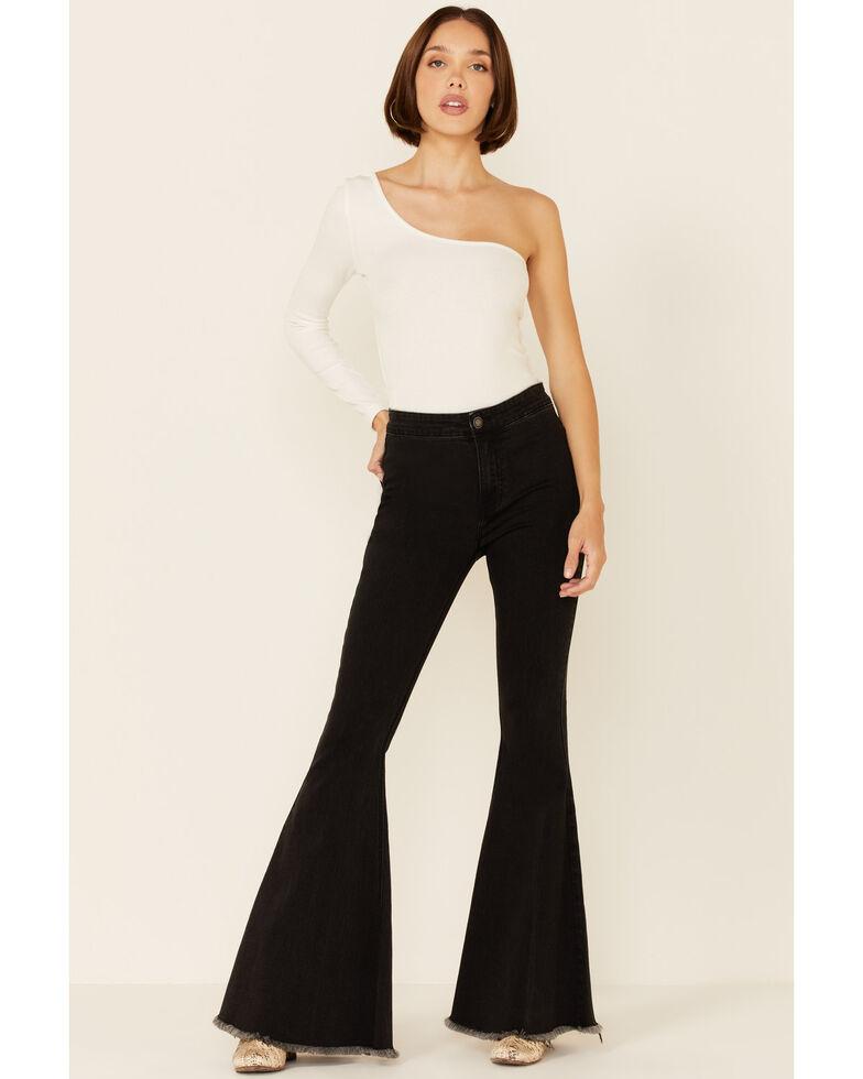 Panhandle Women's Black High Rise Bargain Bell Jeans, Black, hi-res