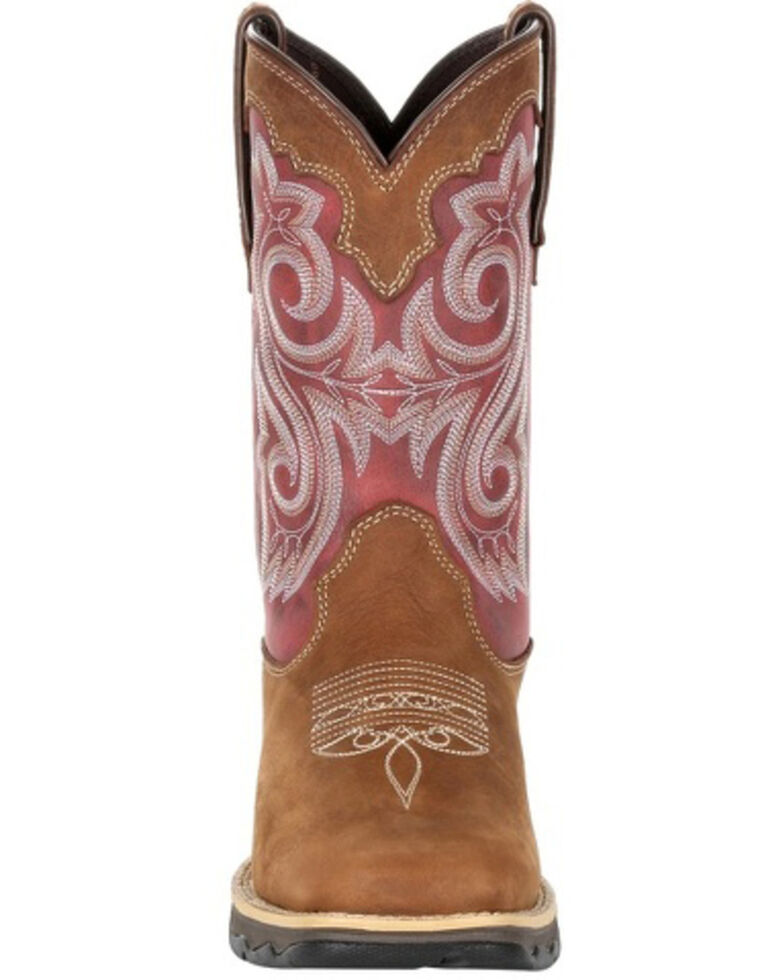 Durango Women's Red Western Boots - Square Toe, , hi-res