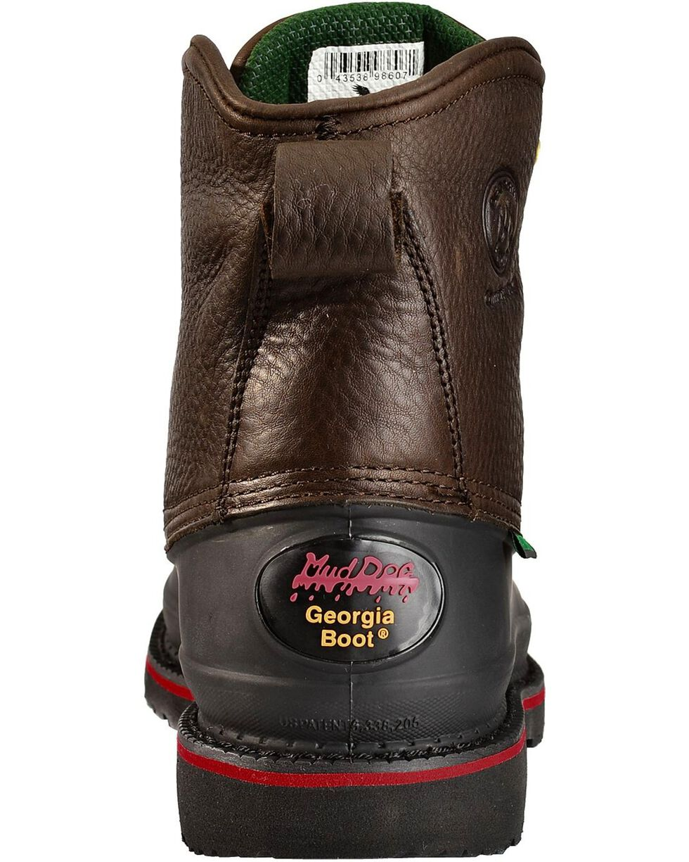 """Georgia Men's Topsoil Mud dog 6"""" Work Boots, Brown, hi-res"""