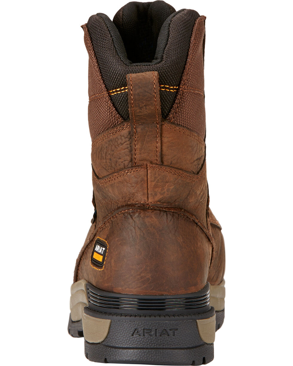 "Ariat Mastergrip 8"" H2O Work Boots, Brown, hi-res"