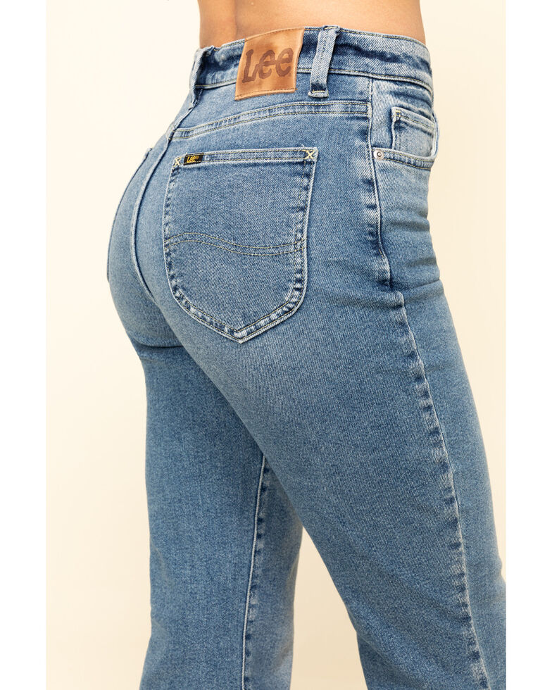 Lee Women's Canyon Fade Flare Jeans , Blue, hi-res