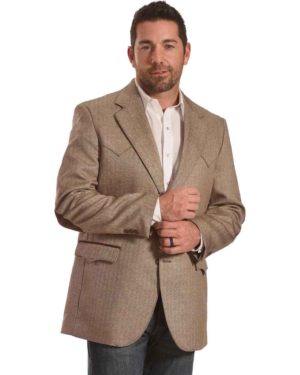 Circle S Men's Lubbock Donegal Brown Sport Coat - Big & Tall, Brown, hi-res