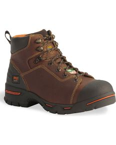 "Timberland Pro Waterproof Endurance 6"" Lace-Up Boots - Steel Toe, Brown, hi-res"