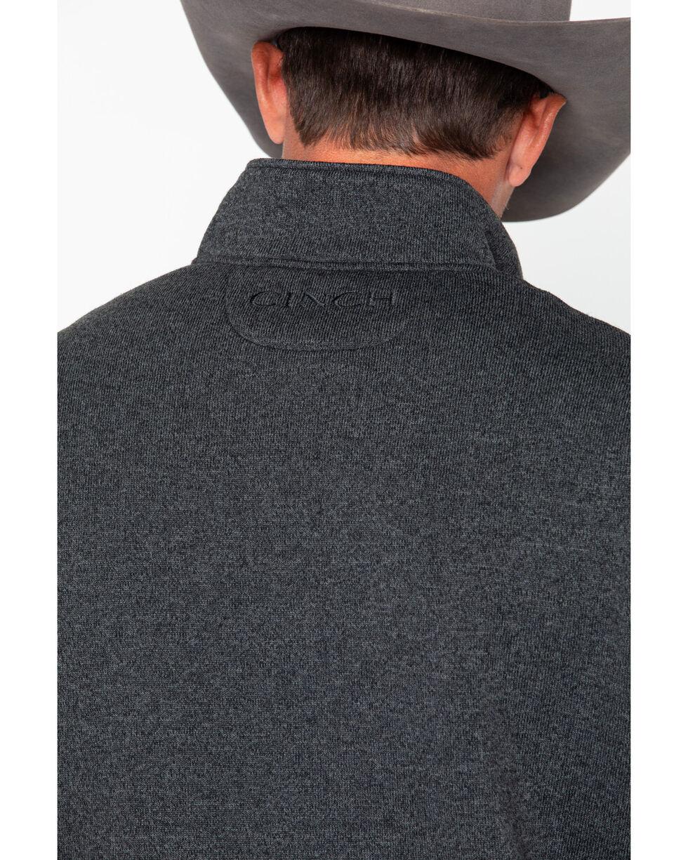 Cinch Men's 1/4 Zip-Up Solid Sweater Knit Pullover , Black, hi-res