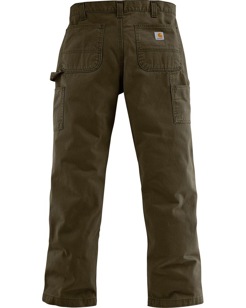 Carhartt Men's Washed Twill Dungaree, Coffee, hi-res