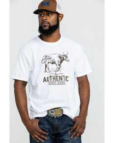 Cody James Men s Mustache Gallop Longhorn Graphic T-Shirt 7bcf46d0a074