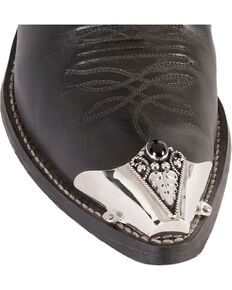 Western Express Fancy Stone Boot Tips, Black, hi-res