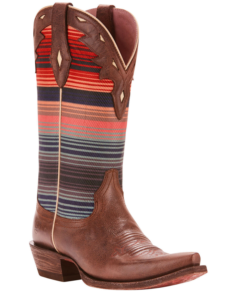 Ariat Women's Circuit Serape Cowgirl Boots - Snip Toe, Chocolate, hi-res
