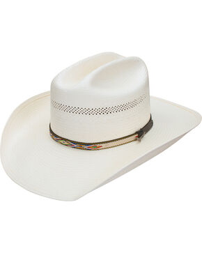 Stetson Men's Cheveyo 8X Straw Vented Cowboy Hat, Natural, hi-res
