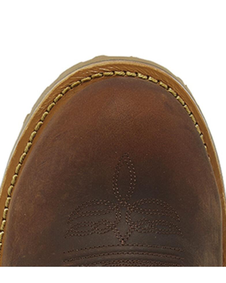 Justin Men's Herdsman Western Work Boots - Steel Toe, Brown, hi-res