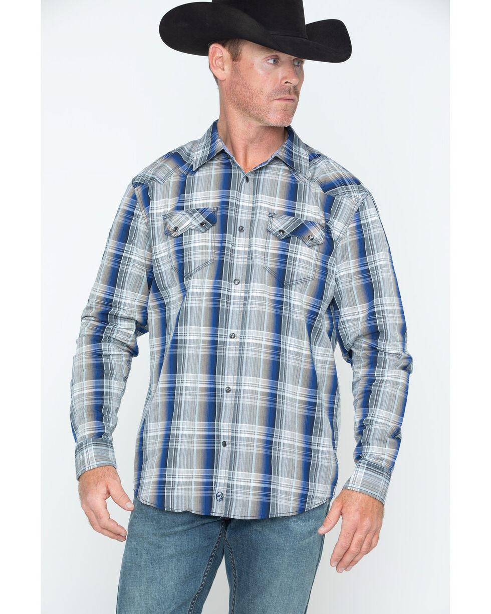 Moonshine Spirit Men's Dirt Road Western Shirt, Blue, hi-res