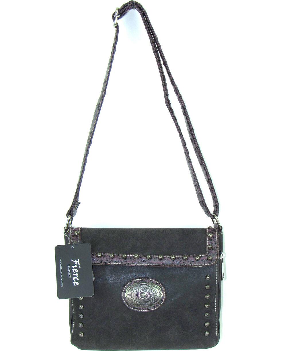 Savana Women's Fierce Conceal Carry Croco Trim Crossbody Purse , , hi-res
