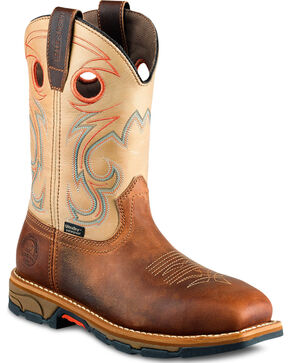 Red Wing Irish Setter Women's Tan Marshall Waterproof Work Boots - Steel Toe, Brown, hi-res