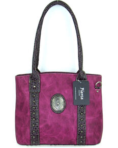 Savana Womens Fierce Concho Conceal Carry Handbag Hot Pink Hi Res