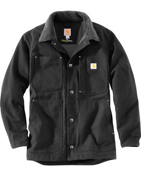 Carhartt Men's Full Swing Chore Coat - Tall , Black, hi-res