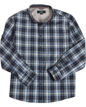 Cody James Men's Martingale Plaid Long Sleeve Button Down Shirt - Big & Tall, Blue, hi-res