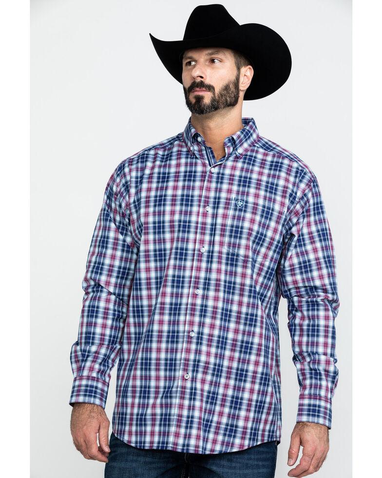 Ariat Men's Acosta Multi Plaid Long Sleeve Western Shirt , Multi, hi-res
