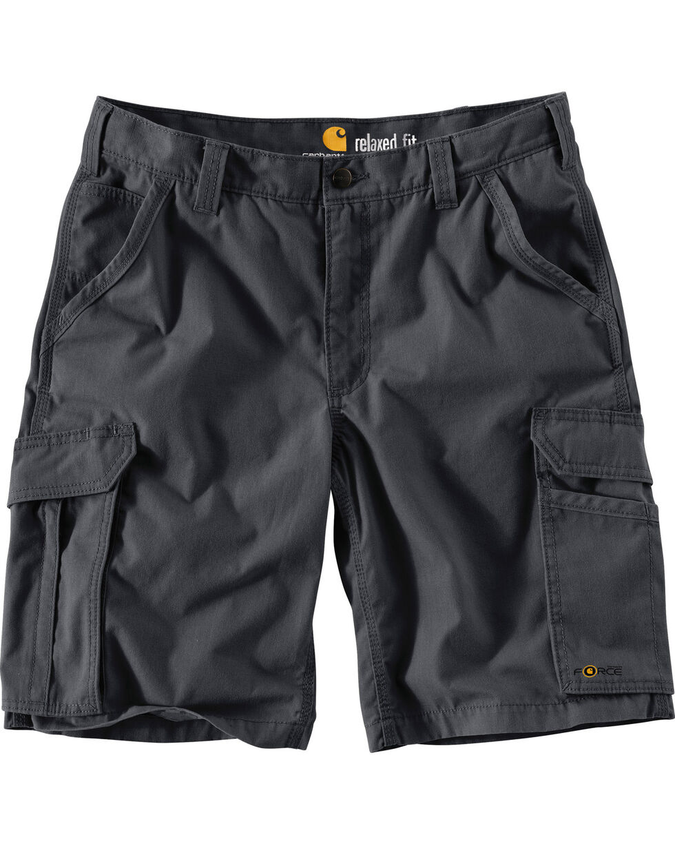 Carhartt Men's Force Tappen Cargo Shorts , Grey, hi-res