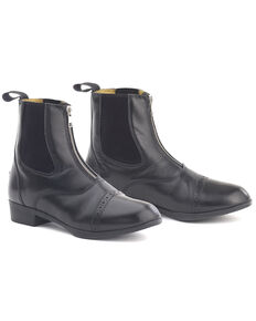 Ovation Kids' Sport Rider II Paddock Boots, Black, hi-res
