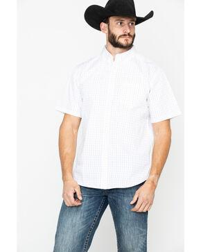 Gibson Men's Dash Geo Print Short Sleeve Western Shirt , White, hi-res