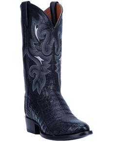 Dan Post Men's Huntsville Western Boots - Round Toe, Black, hi-res
