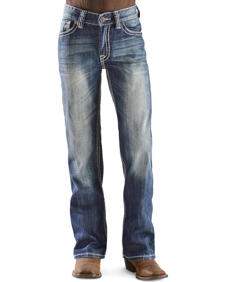 Rock & Roll Denim Boy's BB Gun Boot Cut Jeans, Denim, hi-res