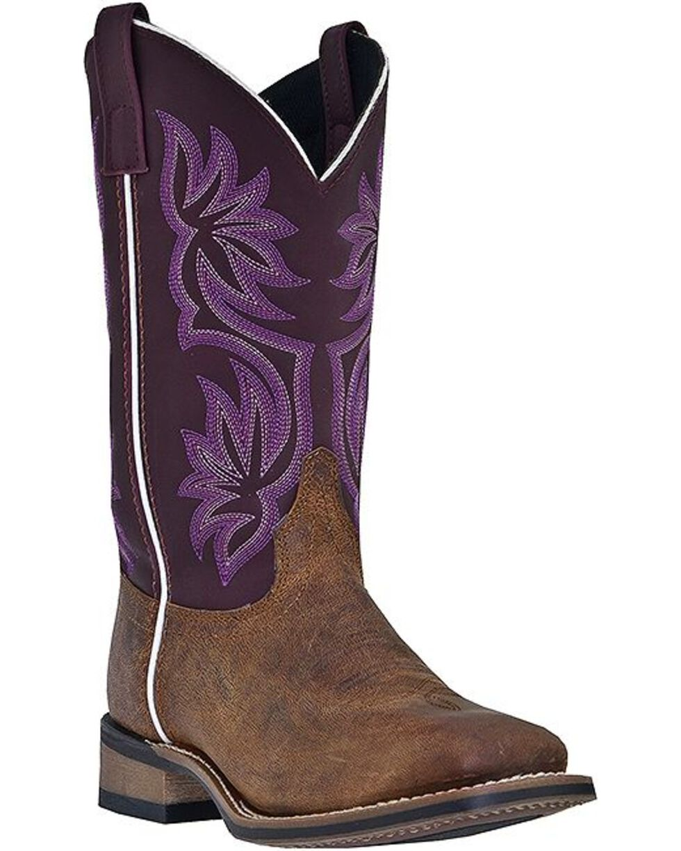 Laredo Women's Sanded Western Boots, Tan, hi-res