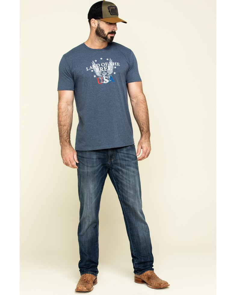 Cody James Men's USA Free Eagle Graphic Short Sleeve T-Shirt , Light Blue, hi-res