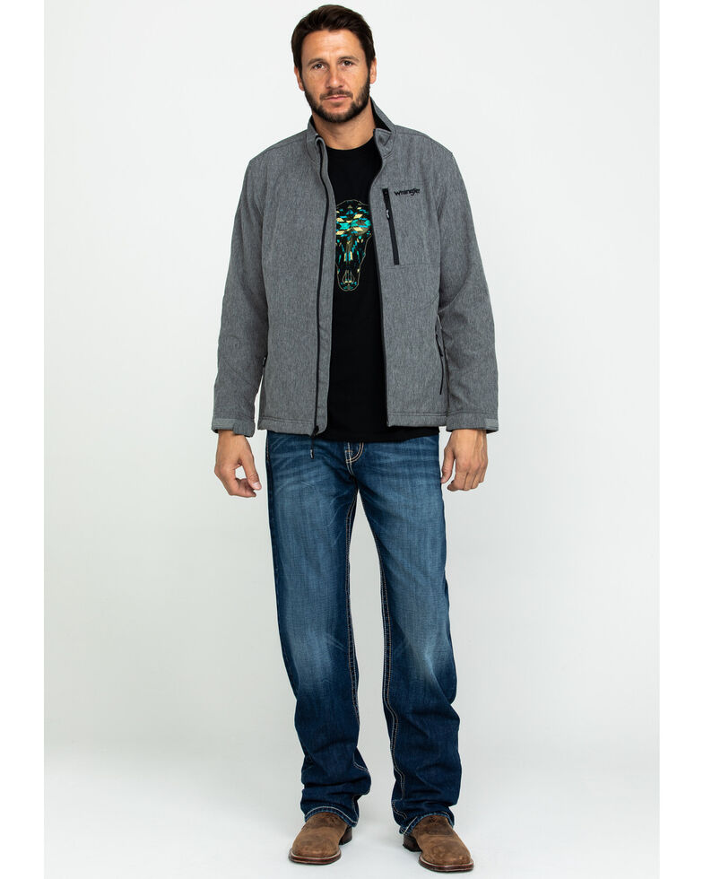 Wrangler Men's Heather Grey Trail Fleece Lined Zip Jacket , Heather Grey, hi-res