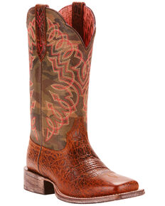 Ariat Women's Circuit Cisco Weathered Desert Camo Cowgirl Boots - Square Toe, Tan, hi-res