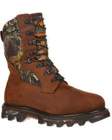 "Rocky Men's Arctic Bear Claw 3D 10"" Hiking & Hunting Boots, Brown, hi-res"