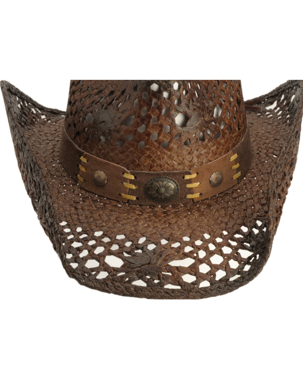 Bullhide Pure Country Straw Cowboy Hat, Brown, hi-res
